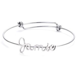 ✨ JAMIE SILVER ADJUSTABLE NAME BRACELET  *NWT*